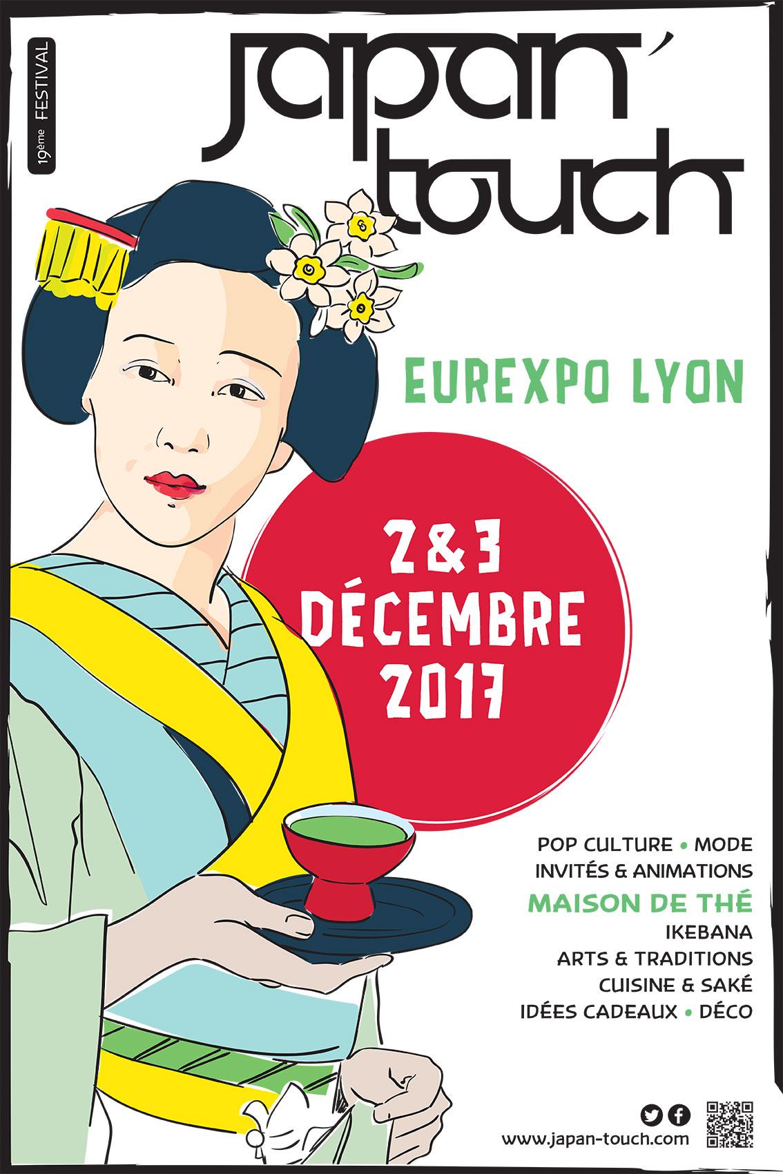 JapanTouch 2017 Affiche Valérie Teppe