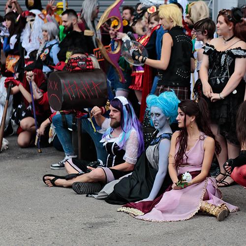 Photo de groupe cosplay