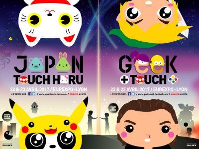 Festivals GeekTouch et Japan Touch HARU les 7 et 8 avril 2018 à Lyon Eurexpo.